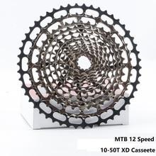 Сверхлегкий MTB 12 Скоростей 10 50T XD ULT кассеты с ЧПУ горный велосипед Freewheel сталь прочный 12 s k7 звездочки 390g