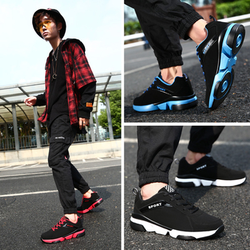 2019 New Men Casual Shoes Lace up Men Shoes Lightweight Comfortable Breathable Walking Sports Sneakers Tenis Feminino Zapatos 2020 men shoes spring autumn running sneakers lace up comfortable casual sports shoes men lightweight walking breathable shoes