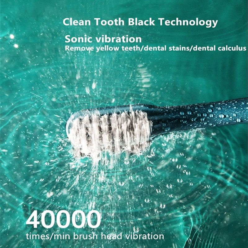 Sonic Electric Toothbrush Upgraded UV Sterilization Adult Waterproof USB Rechargeable Long Standby Time 4 Brush Head Best Gift