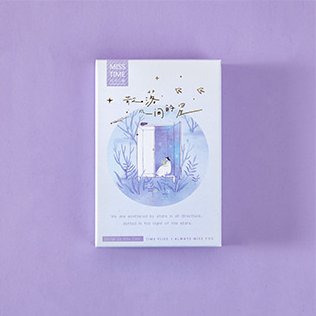 52mm*80mm Fall Star Paper Greeting Card Lomo Card(1pack=28pieces)