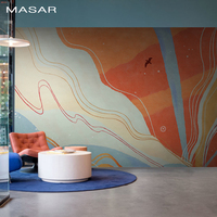 MASAR Creative personality color mural children's room playground entertainment background wall wallpaper Fantasy