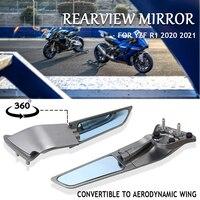 Nuovo argento nero grigio moto specchietto retrovisore laterale retrovisore rotazione a 360 ° per YAMAHA YZF R1 yzf r1 2020 2021 2022
