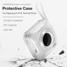 Чехол для ПК Paperang P1/P1S термопринтер анти-падение устойчивый к царапинам Прозрачный Блеск Кристалл защитная оболочка сумка для камеры