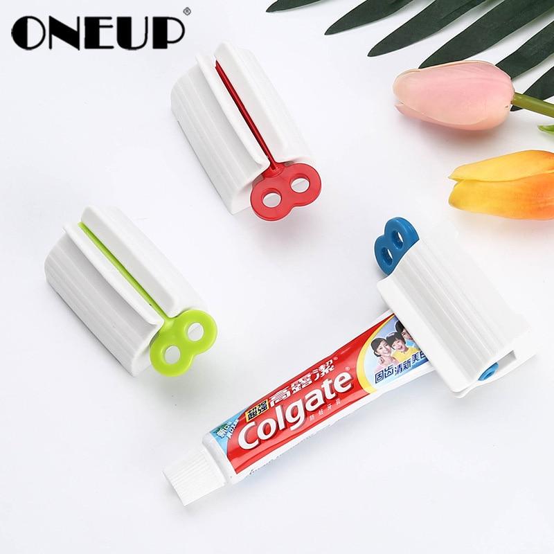 ONEUP Toothpaste Squeezer Plastic Cream Tube Squeezing Dispenser Rolling Tube Squeezer Toothpaste Dispenser Bathroom Accessories