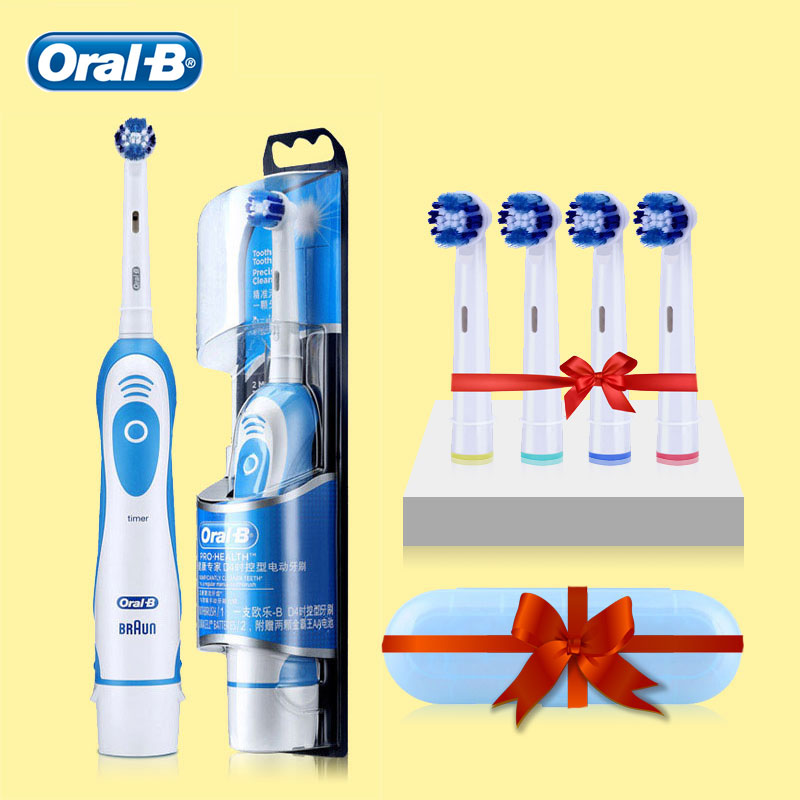 Oral B Sonic Electric Toothbrush 2 Min Timer 7600s Rotating Deep Clean Replaceable Brush Head Battery Vitality Tooth Brush image