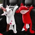 Мультяшная автомобильная коробка для салфеток, креативная подвесная коробка для хранения бумажных полотенец с милыми животными, кроликами...