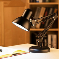 Adjustable Swing Arm Light Drafting Design Office Studio C Clamp Table Desk Lamp Home J8 #3