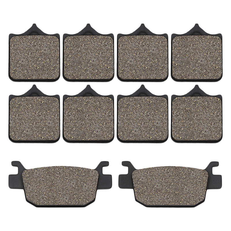 Cyleto Motorcycle front and rear brake pads for Benelli TRK502 TRK502X TRK 502 Leoncino 500 BJ500 <font><b>BJ500GS</b></font>-<font><b>A</b></font> BJ 500 image