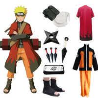 Anime Naruto Cosplay Kostüme Shippuden Uzumaki Naruto 2nd Outfit Uniformen Set mit Mäntel Requisiten Halloween-Party Kleidung