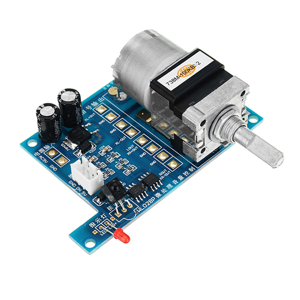 Remote Control Volume Control Board Infrared With Indicator Light Durable Audio Amplifier Motor Electric Potentiometer Modules