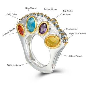 Image 4 - DreamCarnival1989 Specials Upright Design Promise Wedding Engagement Rings for Women Infinity Colors Zircon September WA11710