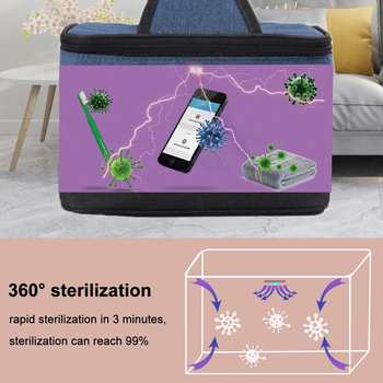 UV Portable Disinfection Box UV - Sterilization Box  - Kills 99% Virus and Bacteria 1