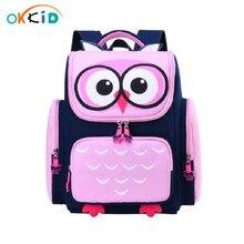 OKKID kinder schule taschen für mädchen nette wasserdicht tier rucksack schul kinder rosa buch tasche grundschule rucksack