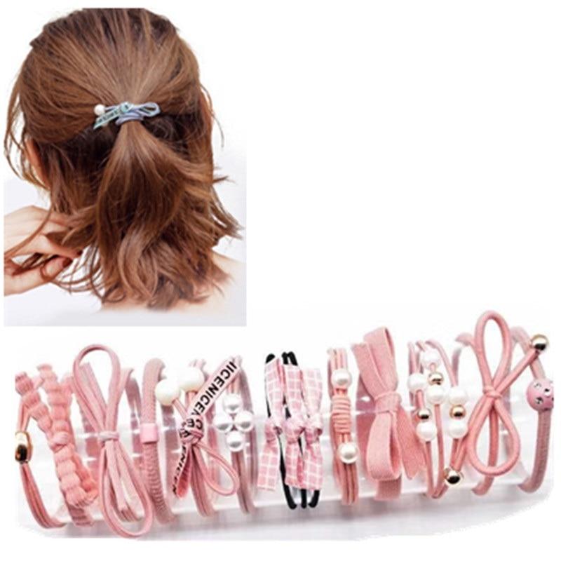 120Pcs//Box Multi-Color Rubber Band Elastic Hair Rope Ties Mini Hair Accessories