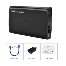 Захват игры HD 1080p 60fps HDMI to USB3.0 видео запись для PS4 Xbox One nintendo Switch, Twitch FaceBook Youtube Live Stream