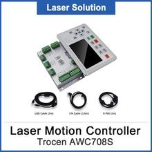 Trocen AWC708S CO2 лазерный контроллер платы карты системы для лазерной гравировальная и режущая машина