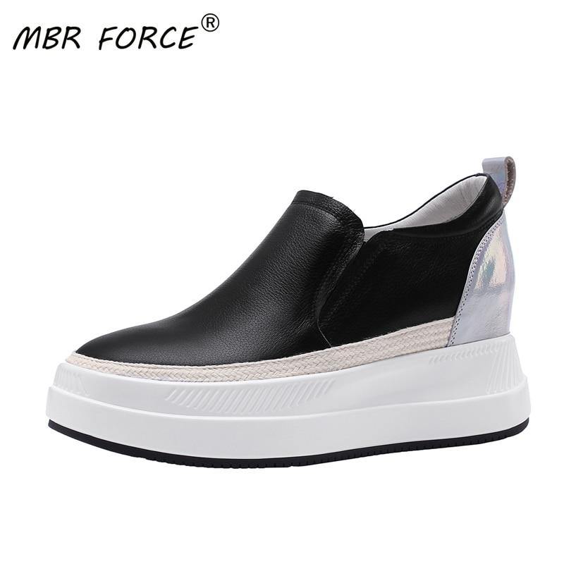 MBR FORCE Women Fashion Platform shoes Girls spring autumn Wedges Tenis Feminino Outdoor Female Footwear black shoes for girls