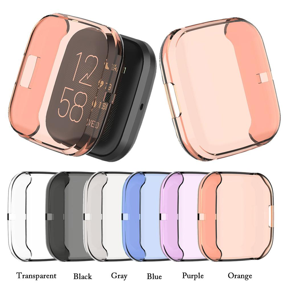 Ultra-thin Soft TPU Protector Case Cover For Fitbit Versa 2 Smart Watch Full Coverage Protective Shell Protector Silicone Cases