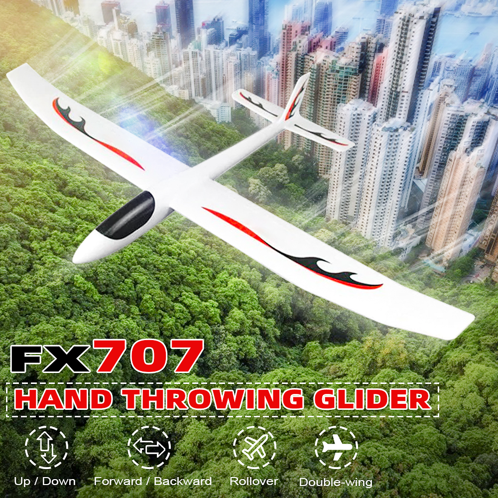 Flybear FX707 Hand Throwing RC Airplane EPP Foam 1200mm Wingspan Aircraft Fixed Wing Airplanes KIT Version For Boys DIY Outdoors