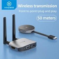 Hagibis 무선 HDMI 호환 비디오 송신기 및 수신기 익스텐더 디스플레이 어댑터 동글 TV 모니터 프로젝터 스위치 PC