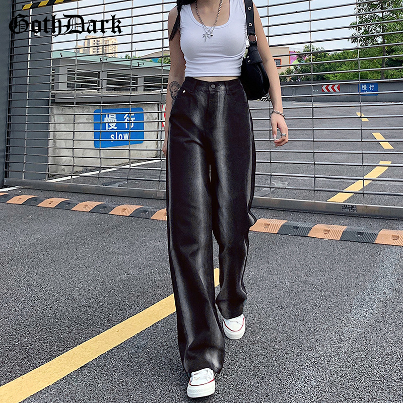 Goth Dark Y2k Harajuku Fashion Tie Dye E-girl Straigh Jeans Gothic High Waist Wide Leg Jogger Pants Women Streetwear Trousers