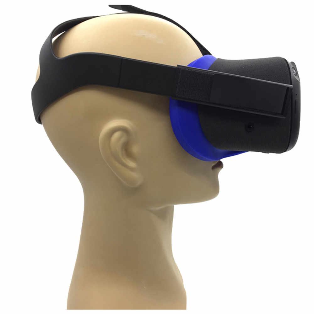 لينة مكافحة العرق سيليكون قناع عين غطاء ل كوة كويست VR نظارات للجنسين مكافحة تسرب ضوء حجب الوجه غطاء العين الوسادة