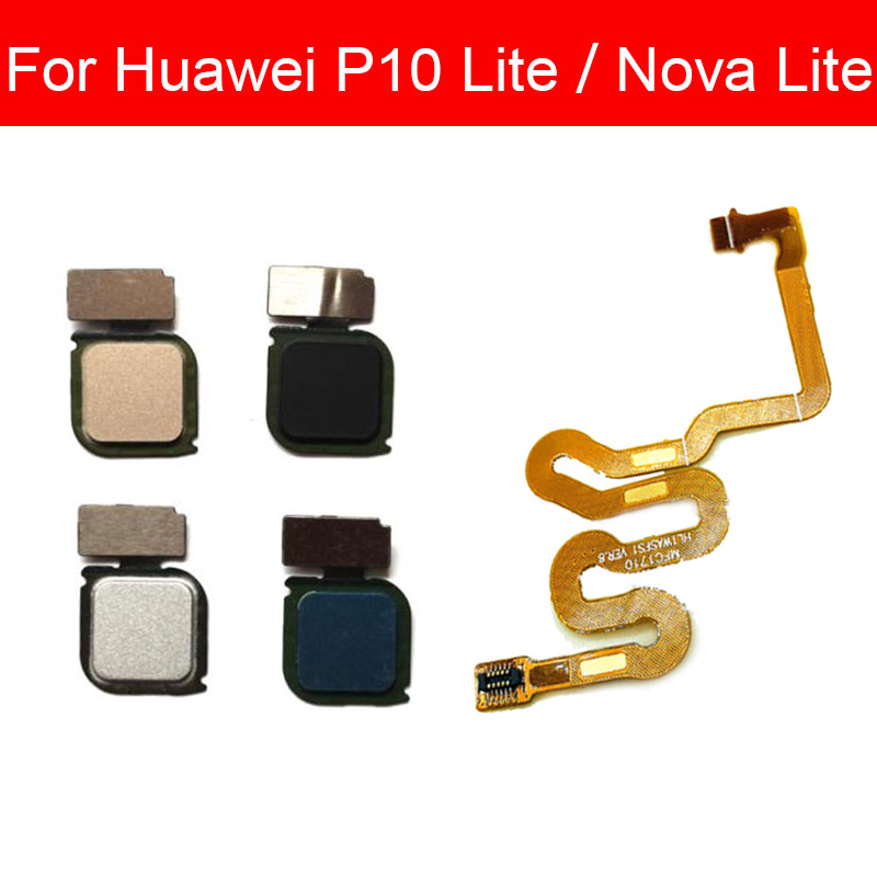 Fingerprint Sensor Home Button Flex Cable For Huawei P10 Lite/Nova Lite PRA-LX2 WAS-L03T WAS-LX1 Menu Touch ID Flex Ribbon