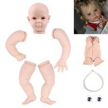 Rsg renascer bebê boneca 22 polegadas realista recém nascido bebe reborn maggi vinil unpainted inacabado peças de boneca diy kit boneca em branco