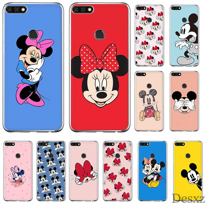 Handy Fall Für Huawei P Smart Z Plus P30 P20 P10 P9 P8 Lite Pro Hard Cover Mickey Maus nette Shell