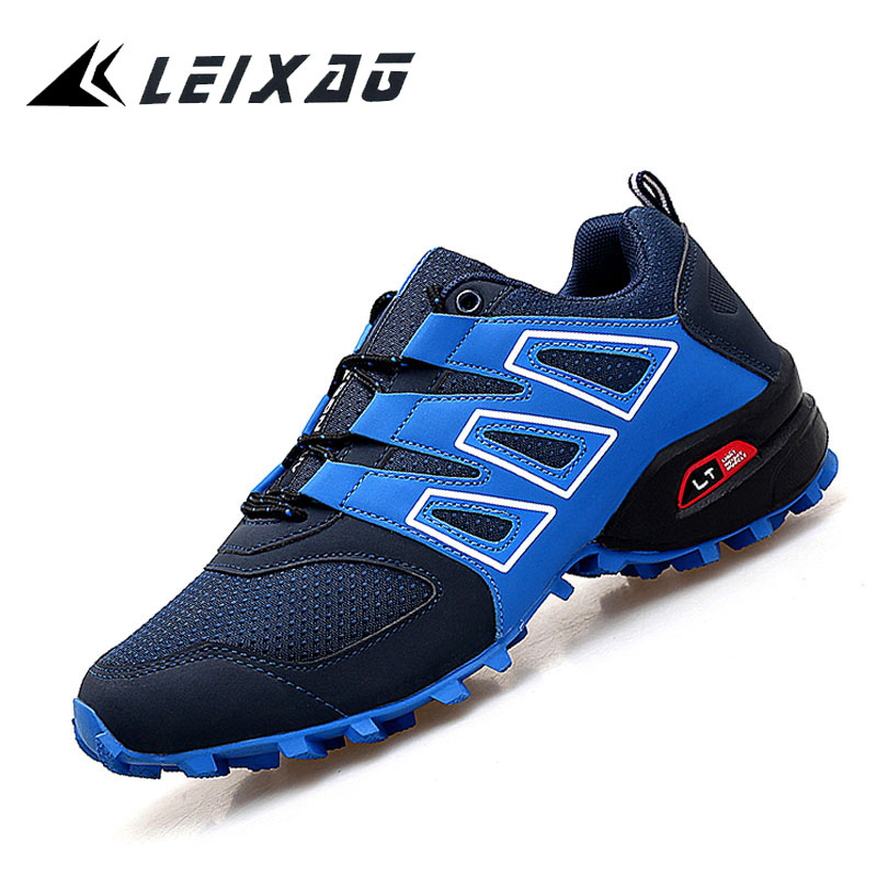 LEIXAG Men Hiking Shoes Outdoor Athletics Shoes Breathable Mesh Trekking Mountain Antiskid Climbing Shoes TPR Men