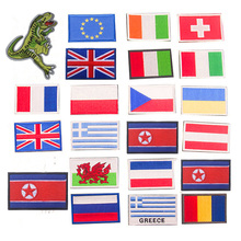 Embroidery Patches Belarus Estonia Greece Spain Italy Germany United Kingdom France Poland Netherlands Russia Europe Flag Patch