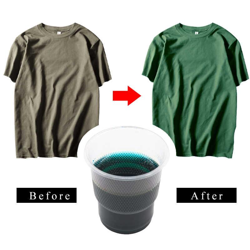 Pintura acrílica de tinte de tela azul-verde para ropa de teñido textil renovación para algodón Nylon Color acrílico 10g