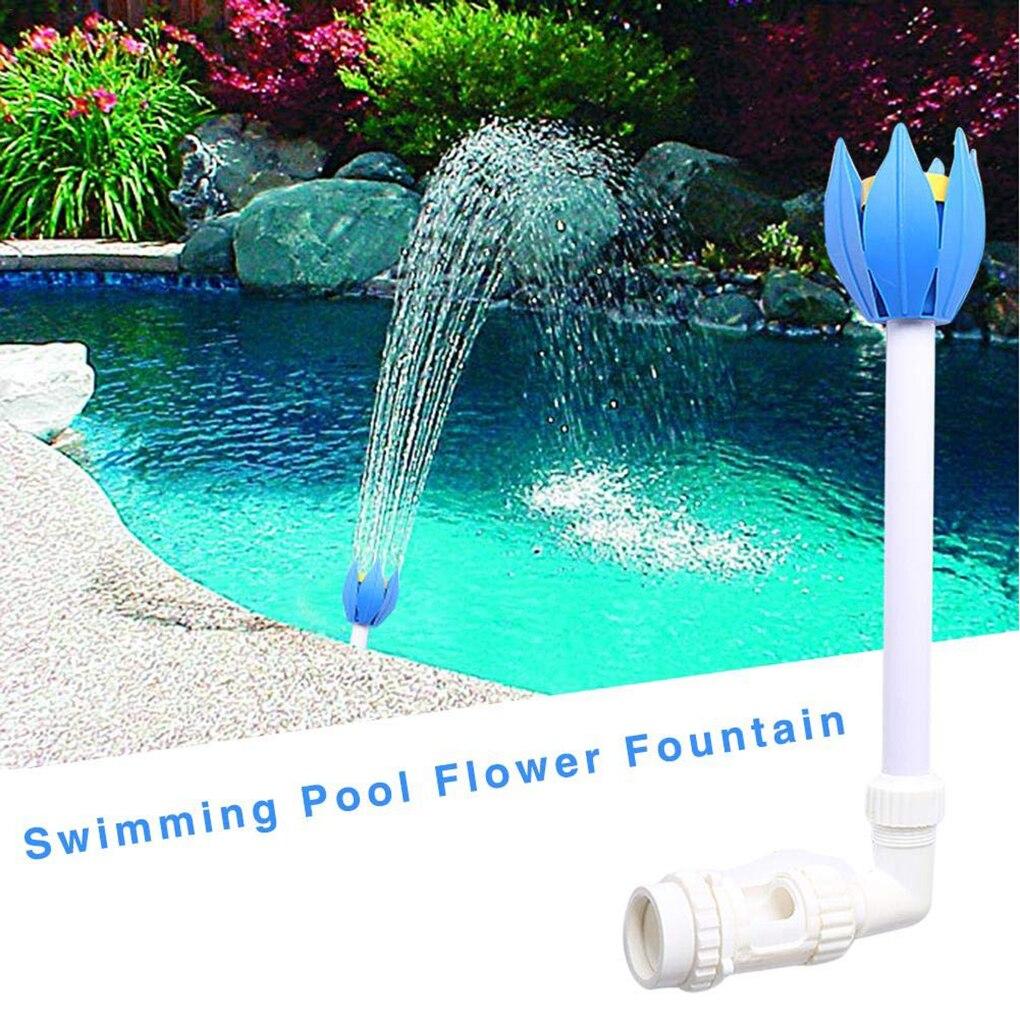 Новый бассейн с водопадом разбрызгиватель цветок лотоса пруд фонтан сопла аксессуары над землей в местах бассейны формы лотоса пруд