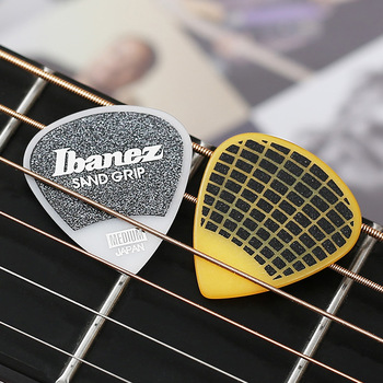 Ibanez Grip Wizard Series Sand Grip Plectrum Electric Acoustic Guitar Pick, 1/piece Made in Japan ibanez os rd offspring model pick