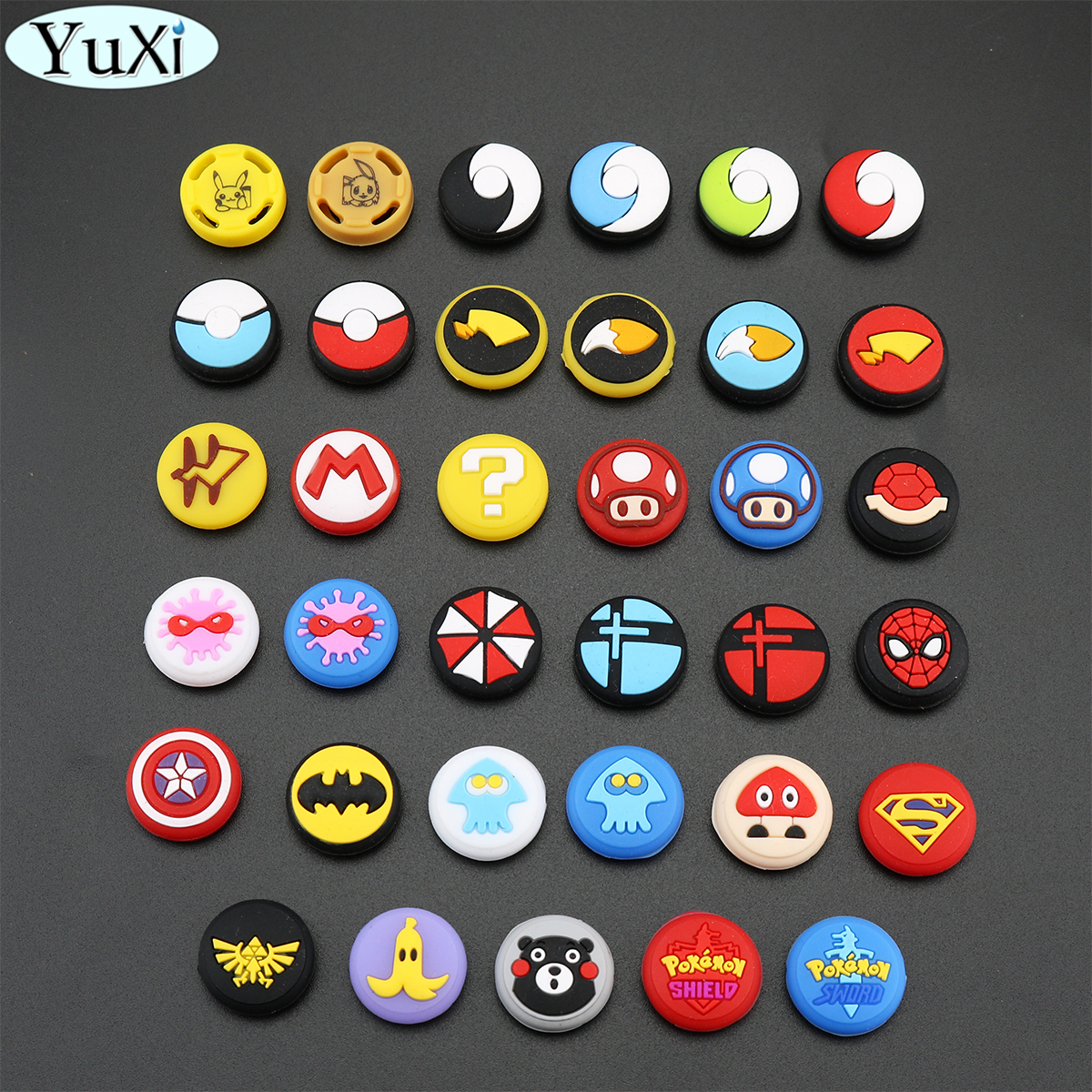 YuXi Rubber Thumb Grips Caps For Nintend Switch NS Joycon Silicone Non-slip Sticks Grips Handle Button Caps For NS Lite Joy Con