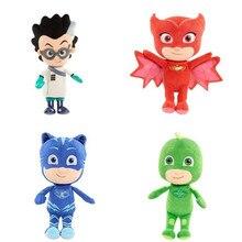 цены Pj Masks Anime Kids Toys 20-25 CM Stuffed Doll Plush Toys Children Birthday Gifts