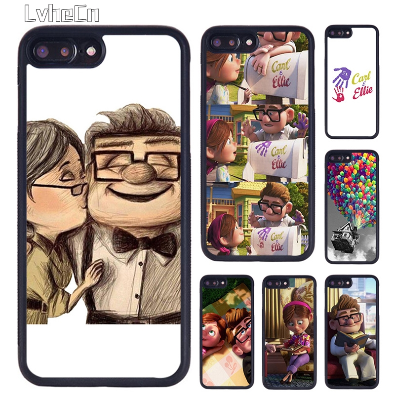 LvheCn up carl and ellie LOVER COUPLE phone Case For iPhone 5 6S 7 8 Plus 11 12 Pro X XR XS Max Samsung galaxy S7 S8 S9 S10 plus