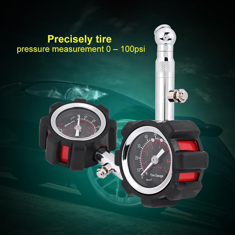 New Car Tire Air Pressure Gauge Accurate Air Pressure Gauge Meter Tester 0 100 PSI Manometer for Car Truck Motorcycle Bike in Tire Pressure Monitor Systems from Automobiles Motorcycles