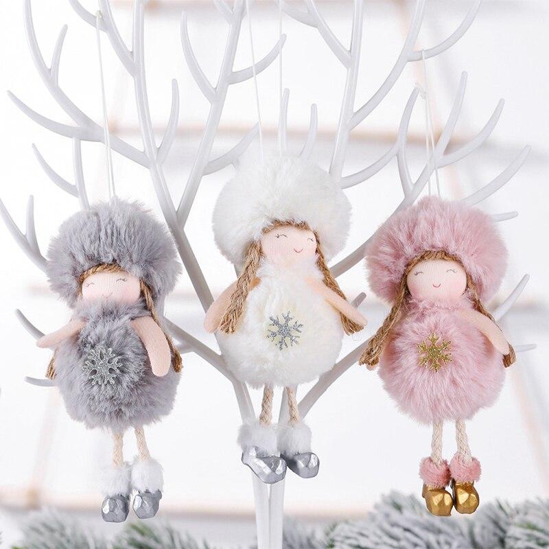 Decoración Feliz Navidad para el hogar muñeco de Ángel de felpa adornos colgantes Navidad árbol decoración regalo de Navidad Año Nuevo Gran oferta|Colgantes y adornos en forma de gota|   - AliExpress