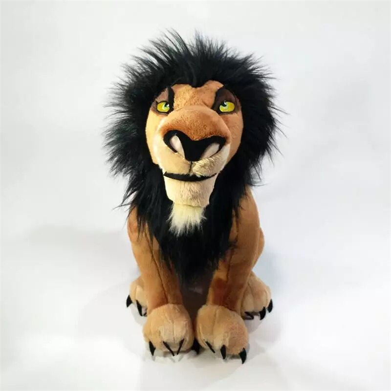 34cm King Lion Plush Toys Baby Dolls The Lion King Simba Nana Scar Uncle Scar Stuffed Soft  For Children Christmas Birthday Gift