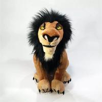 34cm King Lion Plush Toys Baby Dolls The Lion King Simba Nana Scar Uncle Scar Stuffed Soft for Children Christmas Birthday Gift