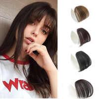 MERISI-flequillo postizo de pelo sintético, 4 colores, extensiones de cabello