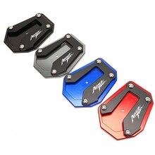 Moto suporte lateral extensão almofada kickstand pé placa de apoio para honda africa twin 1100 2020 2021 esportes de aventura es crf1100l