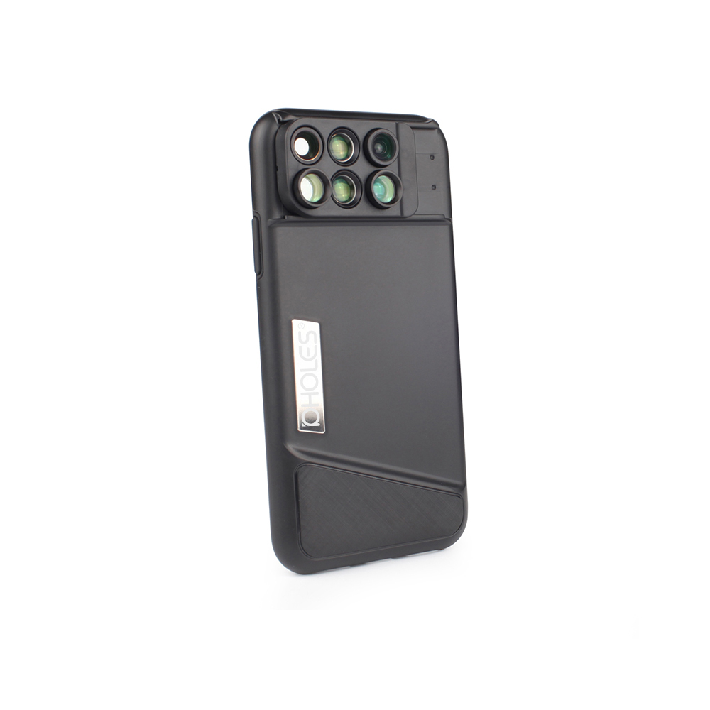 PHOLES 6 in 1 Camera Lens Phone Case For iPhone X XR Case Fisheye Wide Angle Macro Lens Telephoto Lens Soft TPU Edge|phone lens case|phone lens|macro lens - title=