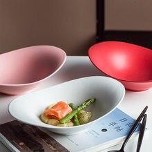 Nordycki kreatywny ceramiczny matowy jednolity kolor owoców deser wyświetny misa do dekoracji gospodarstwa domowego makaron