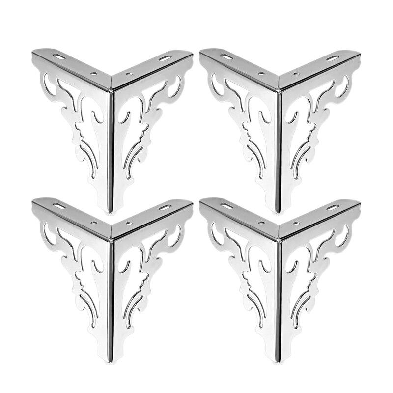 4Pcs Metal Furniture Legs Feet, Modern Sofa Cabinet Legs For Repair & Restoration Of Dresser, Wardrobe, Tea Table, Worktop Shelv