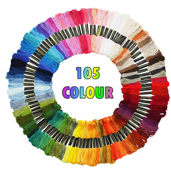 105pc Rainbow Color Embroidery Cross Stitch Threads Bracelets Crafts Floss Sewing Skeins Craft Wholesale & Retail#3