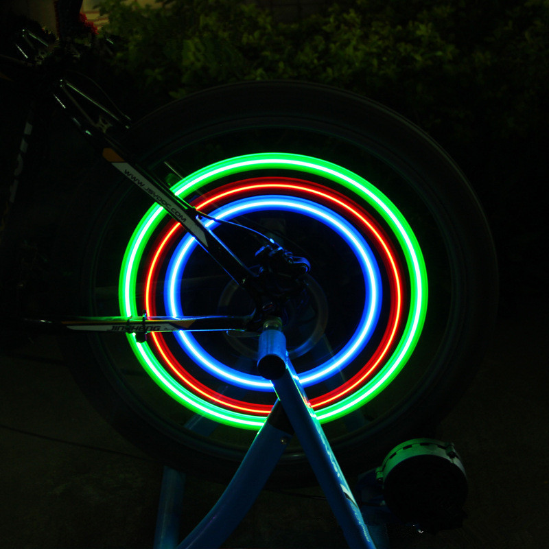 Outdoor Bike Light Sports Cycling Bicycle Wheel Spokes Light Wind Fire Wheel Cool Bicycle Light Cycling Accessories LED Wheel