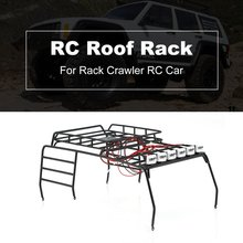 цена на RC Roof Rack Roof Holder Protective Rack Luggage With 6 Multi-function LED Light for JEEP Roof Rack for Crawler for Wrangler
