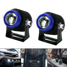 2PCS Motorcycle Led Headlights Auxiliary Lamp Accessories 12V 6500K 38000K In One Moto Motorbike Waterproof Led Driving Fog Lamp
